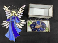 Stained Glass Angel And Trinket Box