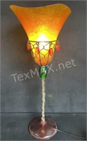 Fiberglass Lamp With Dangling Beads