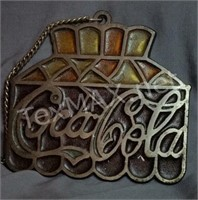 Stained Glass Coca-cola Hanginger Sign