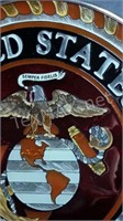 Stained Glass Marine Corps Design
