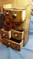 Sewing Wood Mini Chest Supply Storage