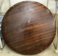 Round Mahogany Wood Table Top