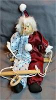 Clown On A Swing Puppet