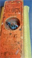 Vintage Wood Sanding Block & Pliers