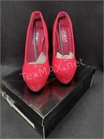 Neon Pink High Heels Sz (7)