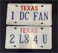 (2) Texas License Plates