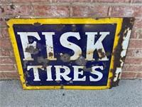 Rare Fisk Tires Porcelain Sign