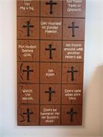 """Cowboy Commandments 39&1/4"""" x 11&1/4"""""""
