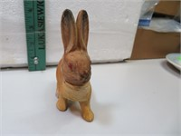 Antique Composition Bunny Rabbit Candy Container