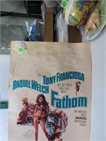 1967 Raquel Welch Original Movie Poster Fathom