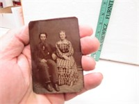 4 Antique Tin Type Pictures (1 is dated 1884, 1