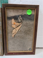 """2 Antique Etched Indian Pictures 8"""" x 5&1/4"""" and"""