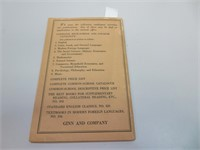 Antique 1924 Ginn and Company Printing Price List