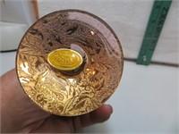 """Vintage 22Karat Lotus Glass Vase 6&5/8"""""""