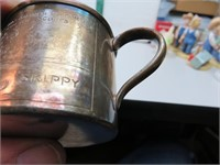 Antique Silver Plated Whisk Broom & SKIPPY Cup