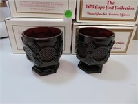 8 Vtg AVON Cape Cod Footed Glasses with Boxes3&3/4