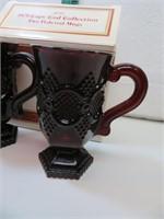 "2 Vtg AVON Cape Cod Pedestal Mugs with Box 5"""