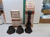 3 Vtg AVON Cape Cod Candle Holders with Boxes