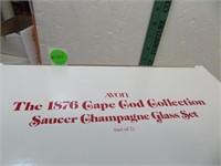 2 Vtg AVON Cape Cod Saucer Champagne Glass Set