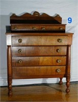 6 Drawer Footed Cherry Chest of Drawers