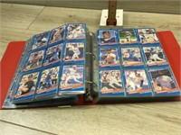 RED ALBUM OF DONRUSS BABSEBALL CARDS