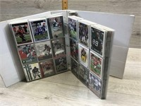 WHITE ALBUM OF FOOTBALL CARDS