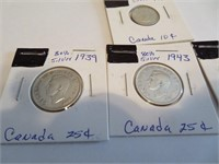 4 (80% Silver) Canadian Coins