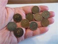 10 Indian Head Pennies