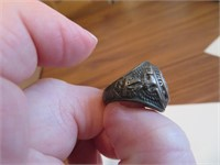 1940s Sterling Silver United States Army Ring Sz 7