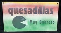 Metal Chile Con Queso/quseadilla Muy Sabroso Sign