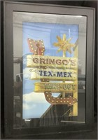 Framed Gringo's Tex- Mex Take Out Sign