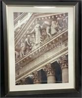 Framed Photo Of The New York Stock Exchange