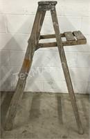 Vintage Wood Carpenter's Ladder
