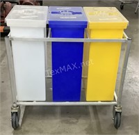 Ingredient Bin Cart (3) 12 Gallon Containers