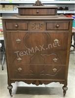 Antique Dresser On Casters
