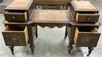 Antique Vanity On Casters