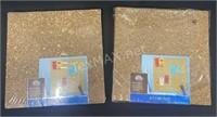(2) Set Of 4 Cork Tiles
