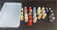 (26) Rolls Of Thread & Container