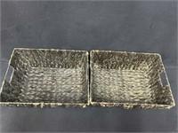 (4) Brown Wicker Baskets