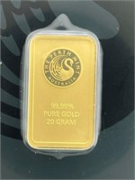 20 Gram Perth Mint Gold Bar in Package