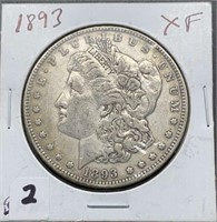 1893 XF Morgan Silver Dollar