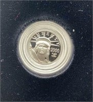 2000 U.S. Mint Tenth-Ounce Platinum Proof Coin