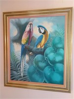 Andre Lange Parrot Painting