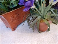Assorted Planters and Plastic Plants