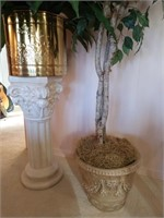Plastic Ficus, Pedestal and More