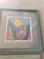 3 Framed Fish Prints