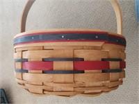 Longaberger Basket with Crisco Advertising