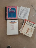 Assortment of Sheet Music & Stand