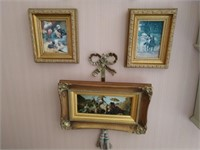 3 Framed Prints and Accent Pieces