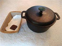 Emeril Cast Iron Pot & Pampered Chef Bowl